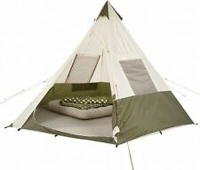 7-Person Teepee Camping Tent Ozark Trail Outdoor Camp Hiking Family Sleeping NEW