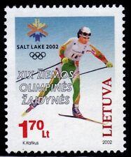 SELLOS OLIMPIADAS INVIERNO. LITUANIA 2002 SALT LAKE CITY 2002 678 1v. ESQUÍ