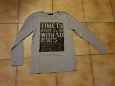 T-shirt gris ML pour fille en S (158-164cm) en TBE