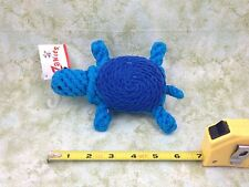 Zanies Blue Turtle Rope Dog Toy