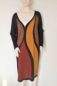 MARINA RINALDI by MAX MARA, Silk & Cashmere Knitted Dress, Plus Size L