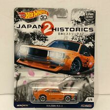 2018 Hot Wheels: Mazda RX-3  Japan Historic 2, Car Culture 2/5 Orange Clean