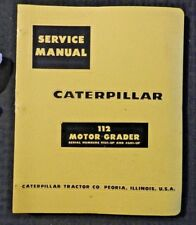 Genuine Caterpillar 112 Motor Road Grader Repair Manual 91G1 & 46D1 & Up Minty