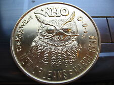 owl who owls 1969 thick 10 ga bird Mardi Gras Doubloon Coin new orleans