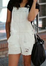 American Eagle Outfitters Overall Shorts white light bluish  Size Medium