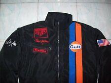 NEU-Steve McQueen Le Mans Fan-Jacke schwarz jacket veste jas giacca jakka
