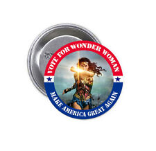 "New Vote For Wonder Woman Gal Gadot Big 2.25"" Pinback Button Badge"