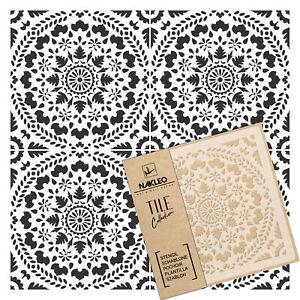 CARIA Tile reusable PLASTIC Stencil // 20x20cm to 60x60cm // Spanish Floor Wall