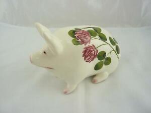 Vintage Plichta Wemyss Money Box Pig - Neat Repair to Foot