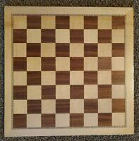 """Large Used wood chess board, 2-inch inlaid squares 18"""""""