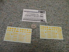 Walthers decals HO Diesel Switcher 1330 Industrial Names yellow     A31