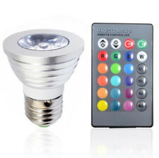 E27 3W 16 Color RGB LED Bulb Lamp Magic Spot Light 110v+ 24key Remote Controller