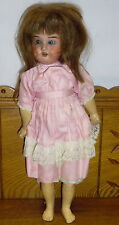 """AM 390 Bisque Head Composition Body 16"""" Doll"""