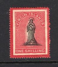 Virgin Islands 1867 1 Shilling, Colored Margins - OG MH - SC# 8   Cats $82.50