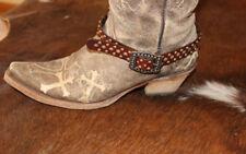 Western Leather Boot Bracelet w Buckle Apparel Womens Shoe Accessory