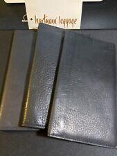 Hartmann Luggage Black Leather Checkbook Wallet