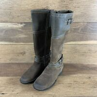 NIB Clarks Taupe Whistle Woven High Boots WOMEN'S SZ 7.5 USA FAST SHIPPING
