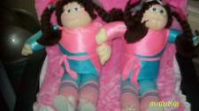 CABBAGE PATCH KIDS SOFT SCULPTURE DOLL TWIN GIRLS W/ BIRTH/ADOPT CERTS