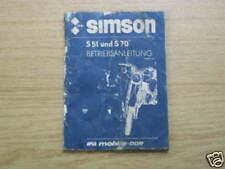 Betriebsanleitung Simson S 51 + 70, Stand 1983