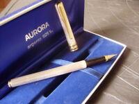 AURORA MAGELLANO PENNA STILOGRAFICA ORO 14K E ARGENTO 925 Silver Fountain Pen