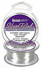Silver Filled 22 Gauge Craft Wire 15.6 Ft. 4.7 m  Jewelry Wrapping Dead Soft