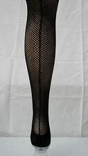 Plus Size Back Seam Seamed Fishnet Tights Retro Burlesque Black XL Vintage