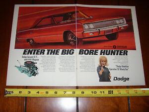 1967 DODGE CORONET R/T - ORIGINAL 2 PAGE AD