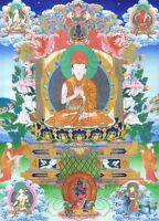 "Thangka Jigten Sumgön ""Top Druck"" Drikung Buddha Tibet Ratnashiri Nepal T09"