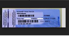 Windows 7 Home Premium Lizenzkey DELL Produkt-Key Lizenz --Brief/Post Versand--
