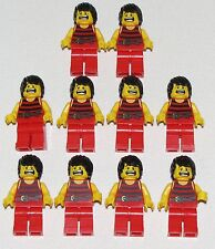 Lego Lot of 10 Pirates of the Caribbean Black Red Stripes Minifigures Red Legs