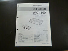 Original Service Manual Schaltplan Fisher WX-1100