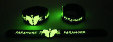 Paramore NEW! Glow in the Dark Rubber Bracelet Wristband Last Hope GG249