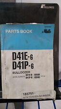 Komatsu D41E-6 D41P-6 Bulldozer Parts List Catalog