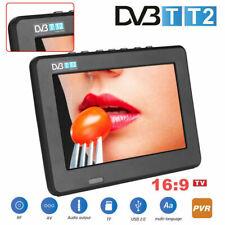 PORTATILE 7 POLLICI TELEVISORE HD DIGITALE DVB-T/T2 TV PLAYER LETTORE USB TF PVR