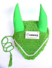 EAR NET FLY VEIL CROCHET WITH CRYSTALS HORSE RIDING EQUESTRIAN NEW 4 COLORS