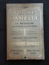 Ancien catalogue échantillon TOITURE Ets Henry  HAMELLE Paris Gaillon