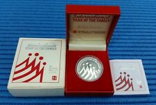 1994 Singapore International Year of the Family $5 Silver Proof Coin
