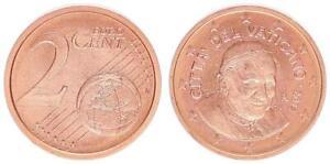 Vatikan 2 Cent 2011 Kursmünze mit Papstmotiv prägefrisch 39352