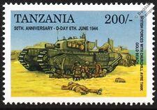 D-Day British Army AVRE Churchill Mk.IV Tank on Gold Beach WWII Stamp