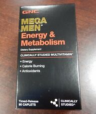 GNC Mega Men Men's Energy & Metabolism Vitamin Dietary Supplement 90 Caplet 5/19