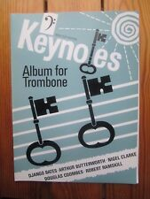 Keynotes - trombone album in bass clef with piano -  *NEW* Brass Wind