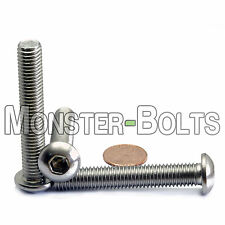 10mm x 1.50 x 60mm - Qty 10 - A2 Stainless Steel BUTTON HEAD Screws M10-1.5 x 60