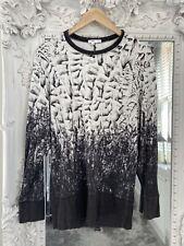 Helmut Lang Designer Printed Jumper Sweater Small UK Size 8 to 10