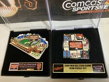 Two (2) SF Giants 2007 MLB All-Star Game Puzzle Pin Sets San Francisco