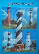 """Outerbanks Lighthouse Standard House Flag by NCE #07054    25"""" x 38"""""""