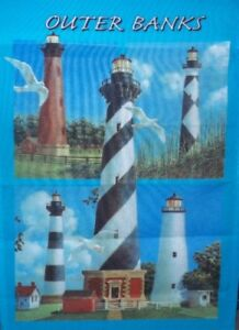"Outerbanks Lighthouse Garden Flag by NCE #07054    11"" x 14.5"""