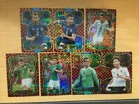 2017 18 PANINI SELECT CHECKERBOARD PRIZM REFRACTOR SP LOT OF (7) ITALY GERMANY