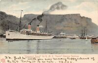 "POSTCARD SOUTH AFRICA - CAPE TOWN -  RMS "" SAXON "" LEAVING PORT"