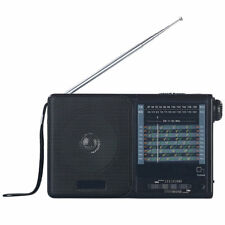 Weltradio: Analoger 20-Band-Weltempfänger mit FM, MW und 18x KW (analog Radio)