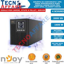 Gruppo Di Continuità UPS Online Onda Sinusoidale Pura 2000VA 1600W Echo Pro Njoy